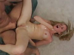 This arousing shaved blonde wants a facial tubes