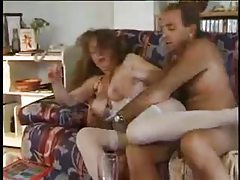 Mature couple fucks and lady is hot in lingerie tubes