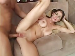 Cute natural girl anal sex and facial tubes