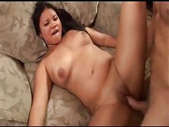Curvy cock riding cutie rides a dick before facial tubes