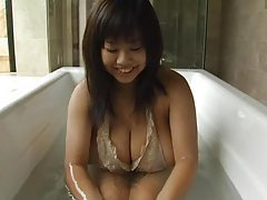 Japanese big tits girl gets gooey tubes