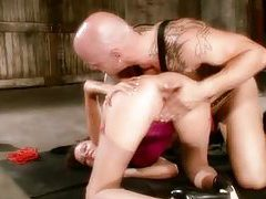 Missy Stone in a corset has hot dungeon sex tubes