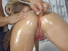 Wet ass looks great in a g-string tubes