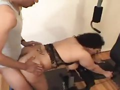 Black guy slams the fat chick wicked hard tubes