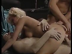 Retro porn double penetration with blonde tubes