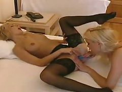 Slender hot women have hot lesbian sex in bed tubes