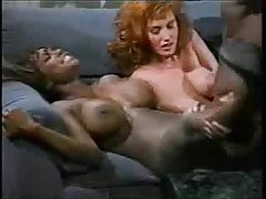 Redhead and black chick pleasure his BBC tubes