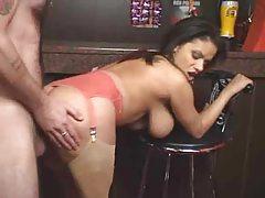 Curvy girl is happy to pleasure his big cock tubes