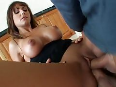 A milf with big titties lets them DP her tubes