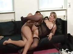 Young guy fucks the chubby blonde milf in lingerie tubes