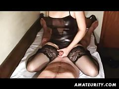 Amateur girlfriend handjob and anal fucking action with cumshot tubes