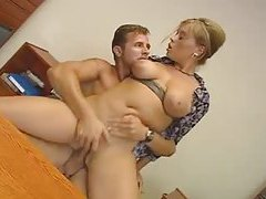 He has anal sex with a curvy bitch in the office tubes