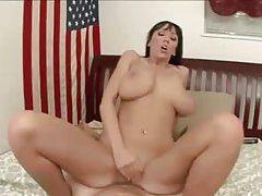 Curvy pornstar milf Alia Janine in POV sex tubes