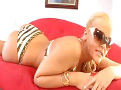 Alexis Texas is hot and slutty in her bikini tubes
