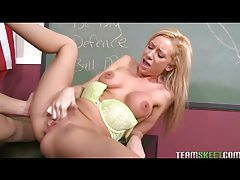 Teacher fucks a hot blonde slut on his desk tubes