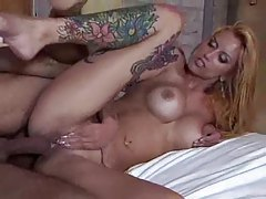 Heavily tattooed Brazilian with big tits fucked hard tubes
