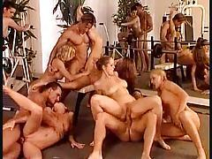 An orgy stuffed with gorgeous Euro girls tubes