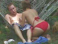 Voyeur video of couple fucking in the backyard tubes