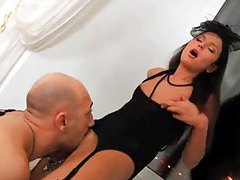 A sexy small tits Euro girl has insanely hot anal sex tubes