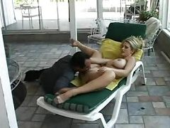 Classic anal outdoors with black cock in white ass tubes