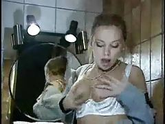 Anal with a gorgeous girl in the bathroom tubes