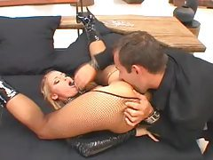 Blonde submissive fucked by her aggressive master tubes