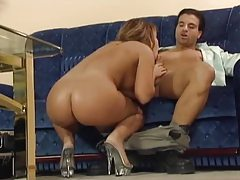 Fantastically gorgeous woman and her man screw tubes