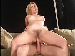Happy milf with a cock in her hairy cunt tubes