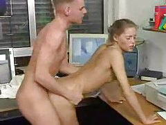 Skinny bitch fucked in the office tubes