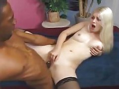 Young sexy blonde nailed by a BBC tubes