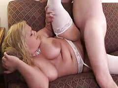 Fatties in lingerie ride him in the hotel room tubes