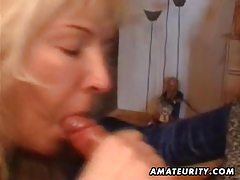 Mature amateur housewife homemade full blowjob with cum in mouth tubes