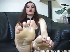 Kinky lingerie redhead foot fetish fun tubes