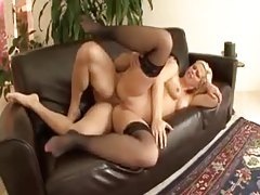 Erotically ass fucking curvy blonde in stockings tubes