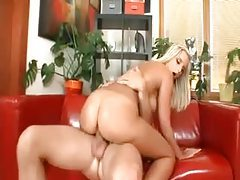 Big wet ass of a blonde riding a dick tubes