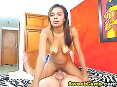 Latina Rides Big Hard White Cock HD tubes