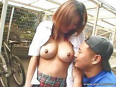 Huge tit Asian girl blowjob tubes