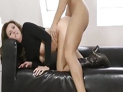 Gorgeous British milf in boots and turtleneck fucked tubes