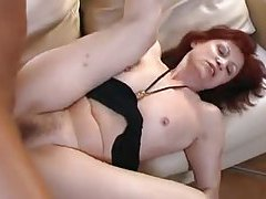 Skinny mature redhead with hairy box pounded tubes
