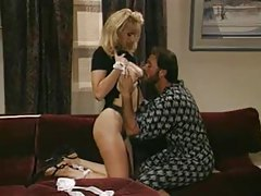 Sexy retro maid Laura Palmer foreplay and fuck tubes