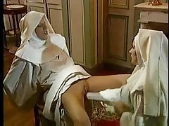 Kinky scene with nuns fisting fantastically tubes