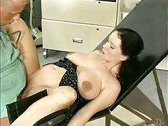 Preggo babe fucked in the doctor's office tubes