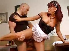 Mature beauty in maid's outfit fucked hard tubes