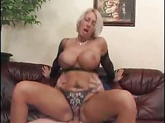 Blonde milf babe riding cock stick tubes