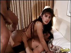 Double penetration in a hotel room tubes