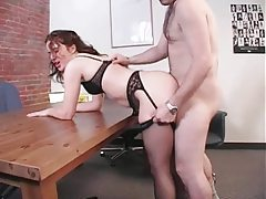 Pulling hair and fucking the cute chick hard tubes
