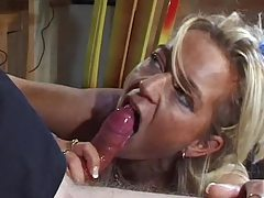He puts the throbbing cock in her cunt tubes