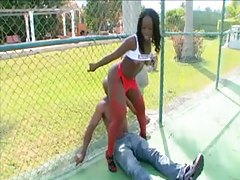 Facesitting black guy with her hot ass outdoors tubes
