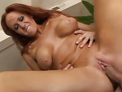 Redhead milf rammed in her tight asshole tubes