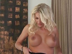 Alicia Secrets smoking hot in little black dress tubes